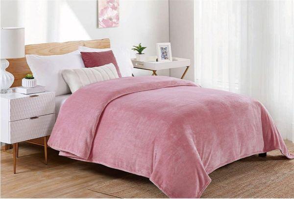 ΚΟΥΒΕΡΤΑ CORAL FLEECE   Μονόχρωμη 01 160X220 Cashmere Pink Polyester